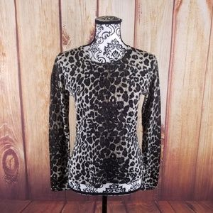 Nygard Collection Petites Leopard Print Top
